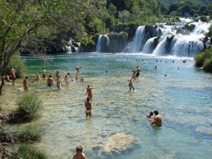 Nationalpark Krka waterfalls swimming is allowed