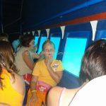 Caroline on a glasboat in Rabac