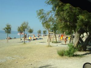 Camp Galeb Beach and playingground