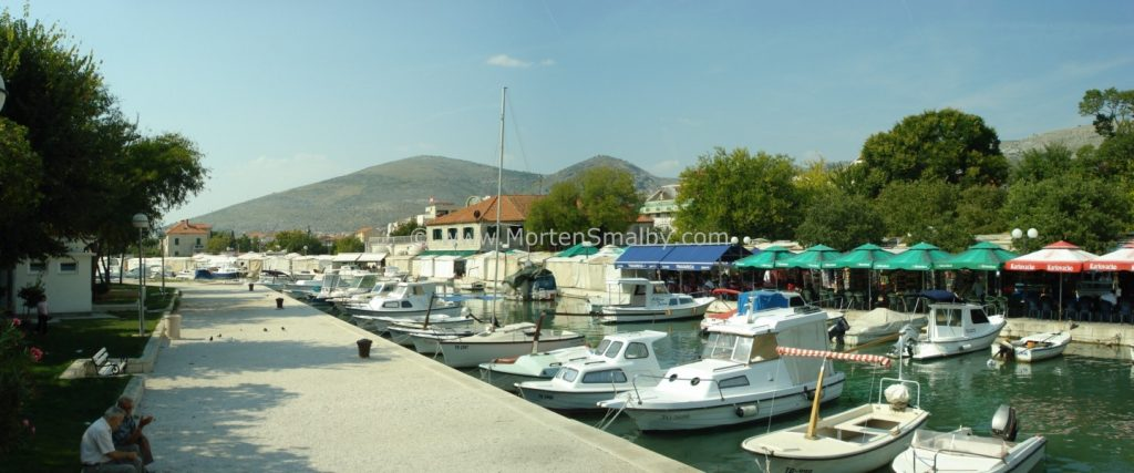 Panorama mini marina and market