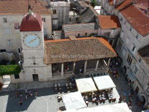 Trogir square below Cathedral