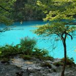 Plitvice Lakes blue water