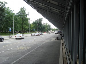 Zagreb Airport outside terminal