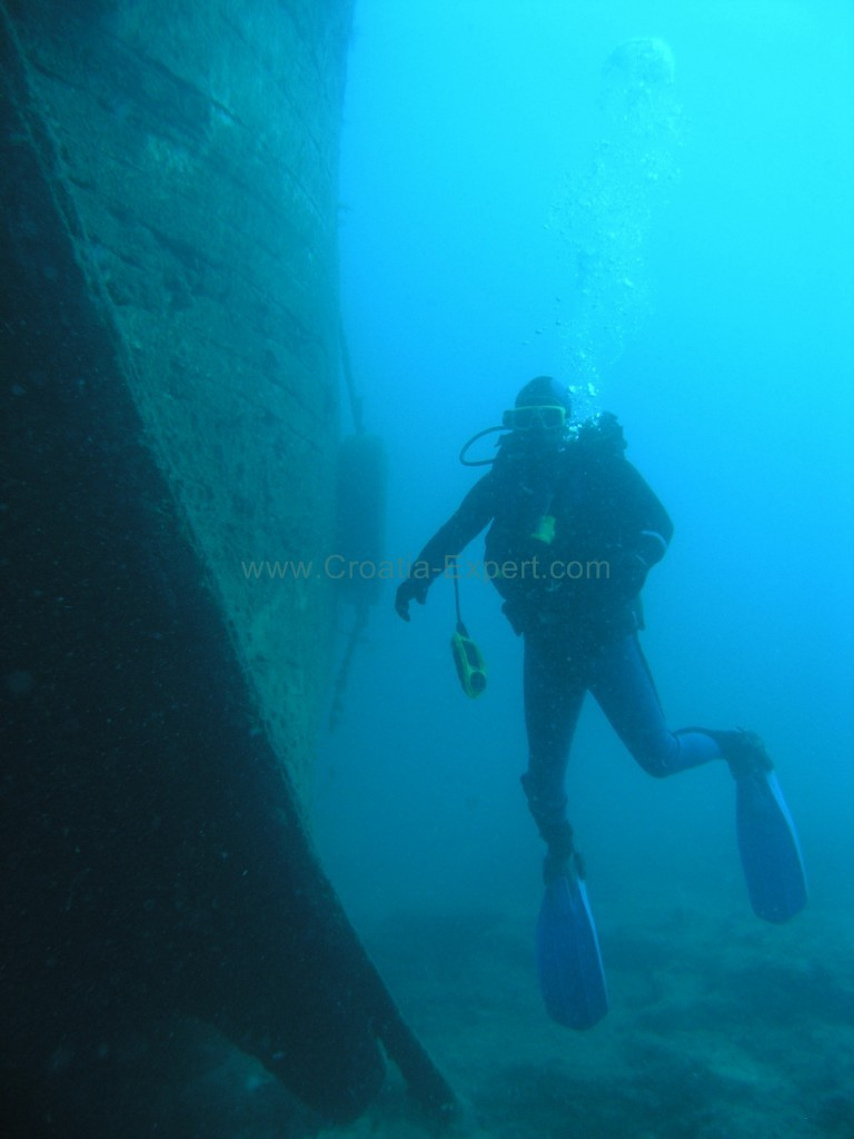 Diver Wreck Croatia