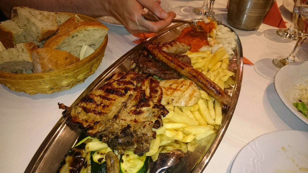 Traditional meat plate
