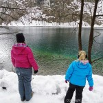 Ida and Caro at Plitvice