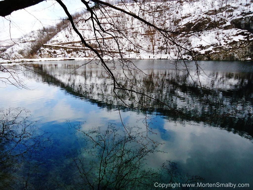 National National Park Plitvice Lakes Winter