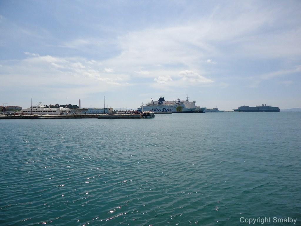 Ferry port Split seen from Riva