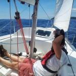Break at the boat