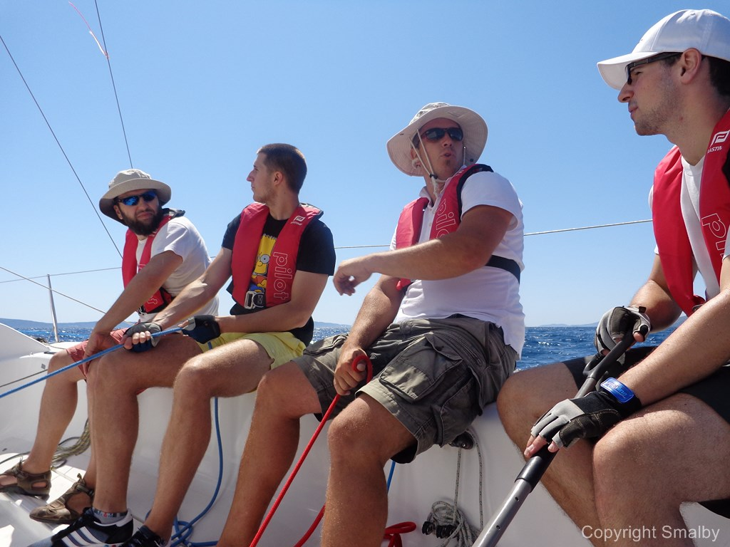 Sailing school team