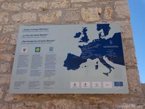 The footprint of Saint Martin