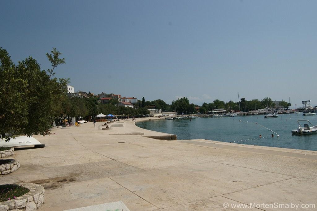 Town beach Novi Vinodolski