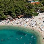 airphoto makarska beach