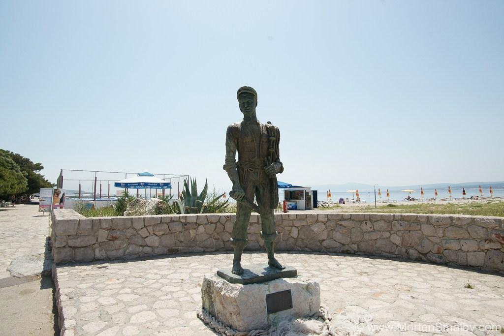 Fisherman statue Crikvenica
